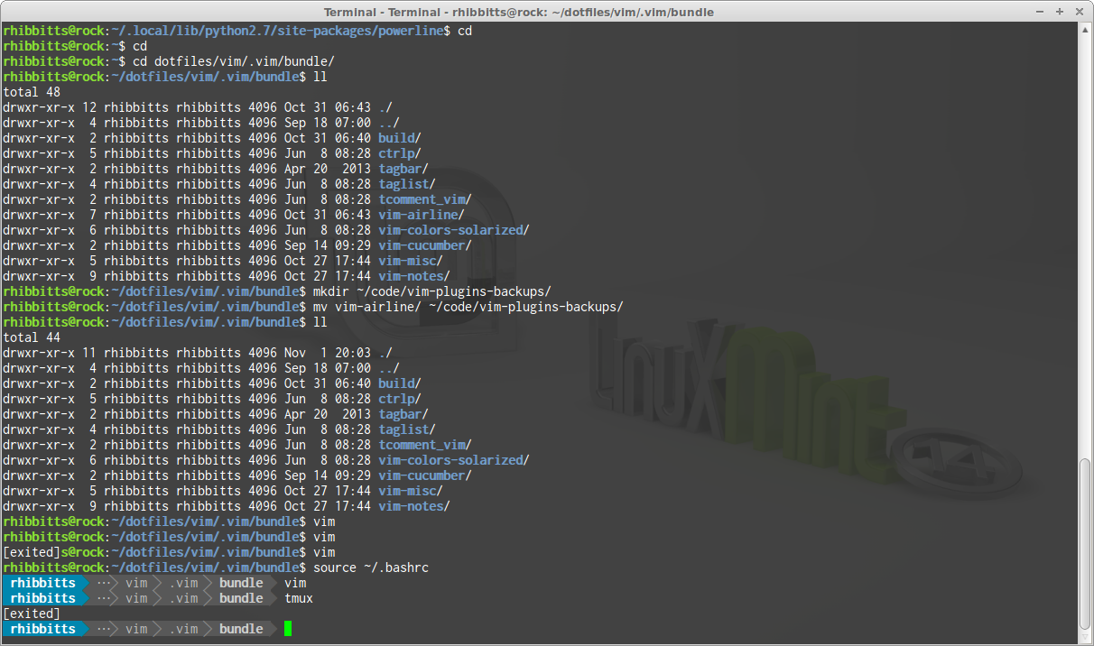 TechnoPoetic » My experience with Powerline in Vim, Bash and